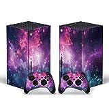 LUONE Etiqueta engomada de la Serie Starry Sky para Xbox Serie X Pegatina de Piel Cubierta de calcomanía para para Xbox Series X Console y 2 Controladores,H