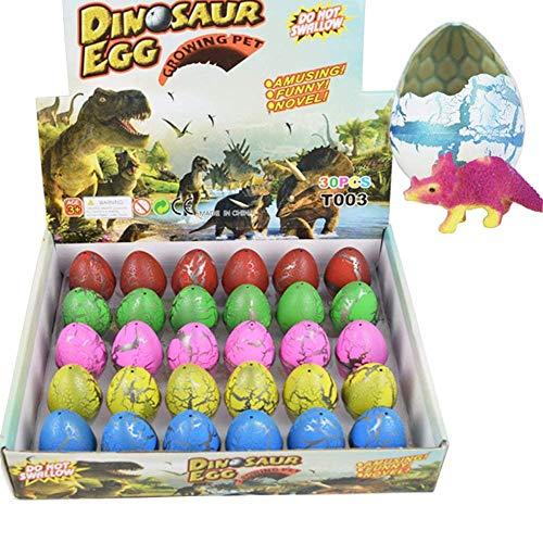 Yeelan Dinosaurier Eier Spielzeug Schlüpfen wachsenden Dino Dragon für Kinder große Packung von 30 Stück, Bunte Crack