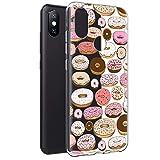 Eouine Funda Xiaomi Mi A2, Cárcasa Silicona 3D Transparente con Dibujos Diseño Suave Gel TPU Antigolpes de Protector Fundas para Movil Xiaomi MiA2 / Xiao Mi 6X 2018 5,99 Pulgadas (Donuts)