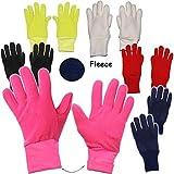 alles-meine.de GmbH Fleece Fingerhandschuhe -  SCHWARZ  - Größe: 3 bis 4 Jahre - LEICHT anzuziehen ! - mit extra Langen Bündchen Kinder & Babyhandschuhe / Fleecehandschuhe - FL..