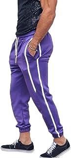 Frieed Men's Active Elastic Waist Jogger Classic Striped Drawstring Long Pants