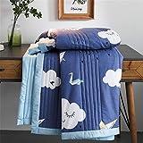 Kühldecke für Kinder, leicht, atmungsaktiv, Sommer-Überwurf für Neugeborene, Sommer, kalte Decke, absorbiert Wärme für heiße Schläfer, Nachtschweiß, 100 x 150 cm, Azurblau