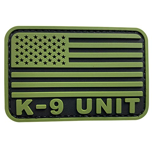uuKen Ranger Green PVC Combat Police Sheriff K9 Unit Patch 2x3 inch Hook Back for Military Tactical Vest Bags Jackets Hat Caps (Green, S3'x2')
