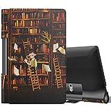 MoKo Funda para Lenovo Yoga Smart Tab 10.1 (YT-X705F) Tableta, Ultra Slim Ligera Función de Soporte Protectora Plegable Cover Cubierta Durable - Estanteria de Libros