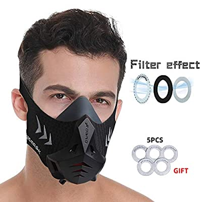 FDBRO Sports Mask Pro Workout Training Mask Fitness,Running,Resistance,Cardio,Endurance Mask for Fitness Workout Sport Mask (Black, S) by guang shi