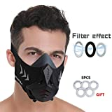FDBRO Sports Mask Pro Workout Training Mask Fitness,Running,Resistance,Cardio,Endurance Mask for Fitness Training Sport Mask (Black, M)