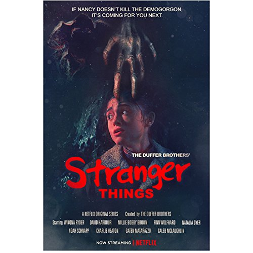 Natalia Dyer 8 Inch x 10 Inch PHOTOGRAPH Stranger Things (TV Series 2016 - ) 'If Nancy Doesn't Kill the Demogorgon...' Title Poster kn