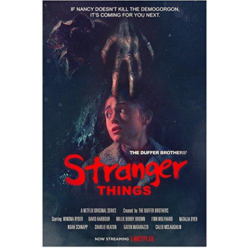 Stranger Things Natalia Dyer as Nancy with demigorgon hand promo 8 x 10 Inch Photo