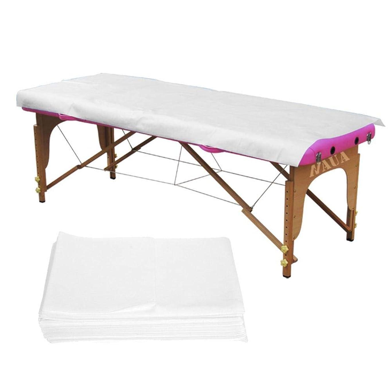 タブレットモールス信号八百屋使い捨てベッドシーツ、2色10個/袋スパ使い捨てベッドシーツ美容院マッサージ不織布防水アンチオイル(White)