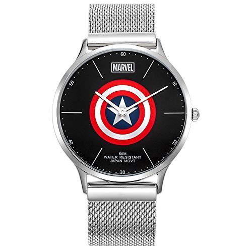 Towel Rings Marvel Avengers Orologi da Polso Hollow Captain America Shield Creative Fashion Watch Street Trend Steel Band Orologio da Uomo
