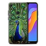Hülle Für Huawei Honor 8A/Play Wilde Tiere Pfau Design Transparent Ultra Dünn Klar Hart Schutz Handyhülle Hülle