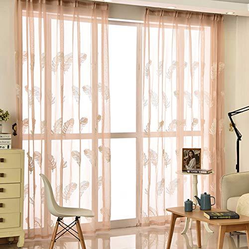 WBXZAL-Rideaux Fini De Broderies Fenêtre De Dépistage Simples Petits Frais Salon Corée Moderne Enfants Chambre Chambre,200,B
