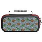 Kakapo Parrot And Kiwi Bird Travel Carrying Case Tote Bag For Nintendo Switch Accessories Holds 20 Game Card Bag