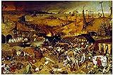 TLMYDD El Triunfo De La Muerte De Pieter Bruegel The Elder Puzzles para Adultos, 1000 Piezas Niños Jigsaw Puzzles Juguetes Regalo para Niños Niños Y Niñas, 20'x 30' Día de San Valentín Presente