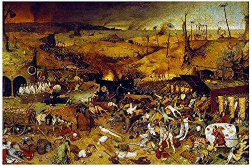 El Triunfo De La Muerte De Pieter Bruegel The Elder Puzzles para Adultos, 1000 Piezas Niños Jigsaw Puzzles Juguetes Regalo para Niños Niños Y Niñas, 20