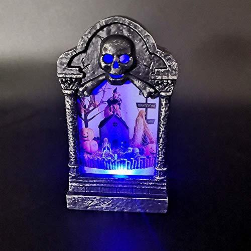 AOIWE Lámpara lápida de Halloween decoración de la lámpara Nueva Prop casa Vendimia lápida Noche lámpara de Cabeza del cráneo del gradiente de luz de la Calabaza luz de la Noche la luz