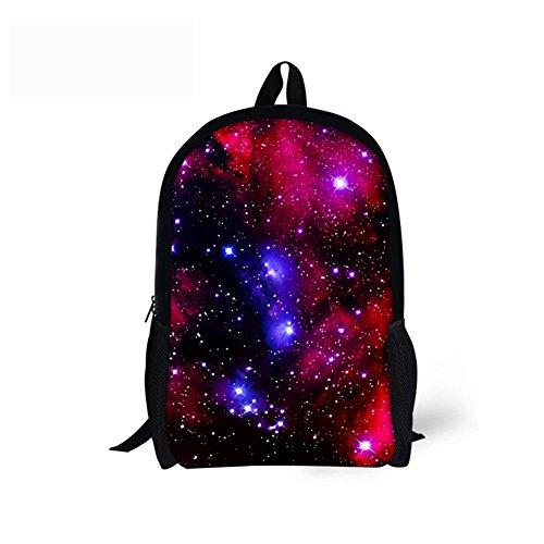 CHAQLIN Galaxy Mochila para niños, mochila escolar de poliéster para niños y niñas Galaxia 2