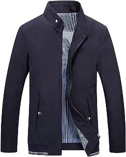 LENXH Thin Jacket Men's Jacket British Jacket Fashion Trench Coat Casual Simple Jacket Solid Color Jacket