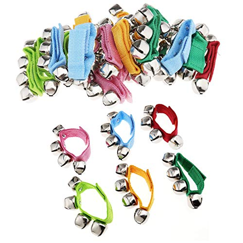 OTOTEC 24 pulseras de 21 cm con ritmo musical para niños y bebés, juguete educativo, pandereta, regalo de Navidad