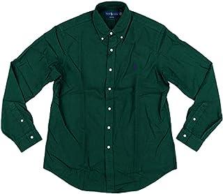 Mens Classic Fit Oxford Longsleeve Buttondown Shirt Green, Large