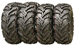 """Set of 4 New WANDA AT MASTER ATV Tires AT 22x7-11 Front & 22x10x9 Rear /6PR P341 36% deeper tread than major competitor with similar tread patterns, result as heavier, longer lifetime, and more aggressive Directional """"V"""" angled tread design with wide..."""