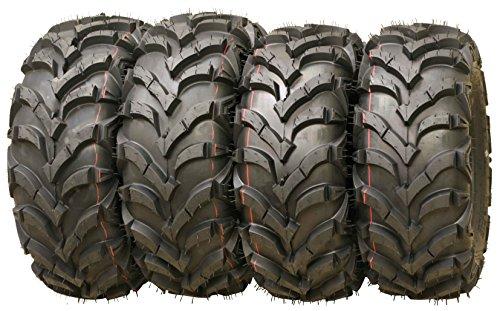 Set of 4 WANDA ATV/UTV Tires 25X8-12 25X10-12 P341 Solid Deep Tread for 2005-2014 HONDA FOREMAN 500