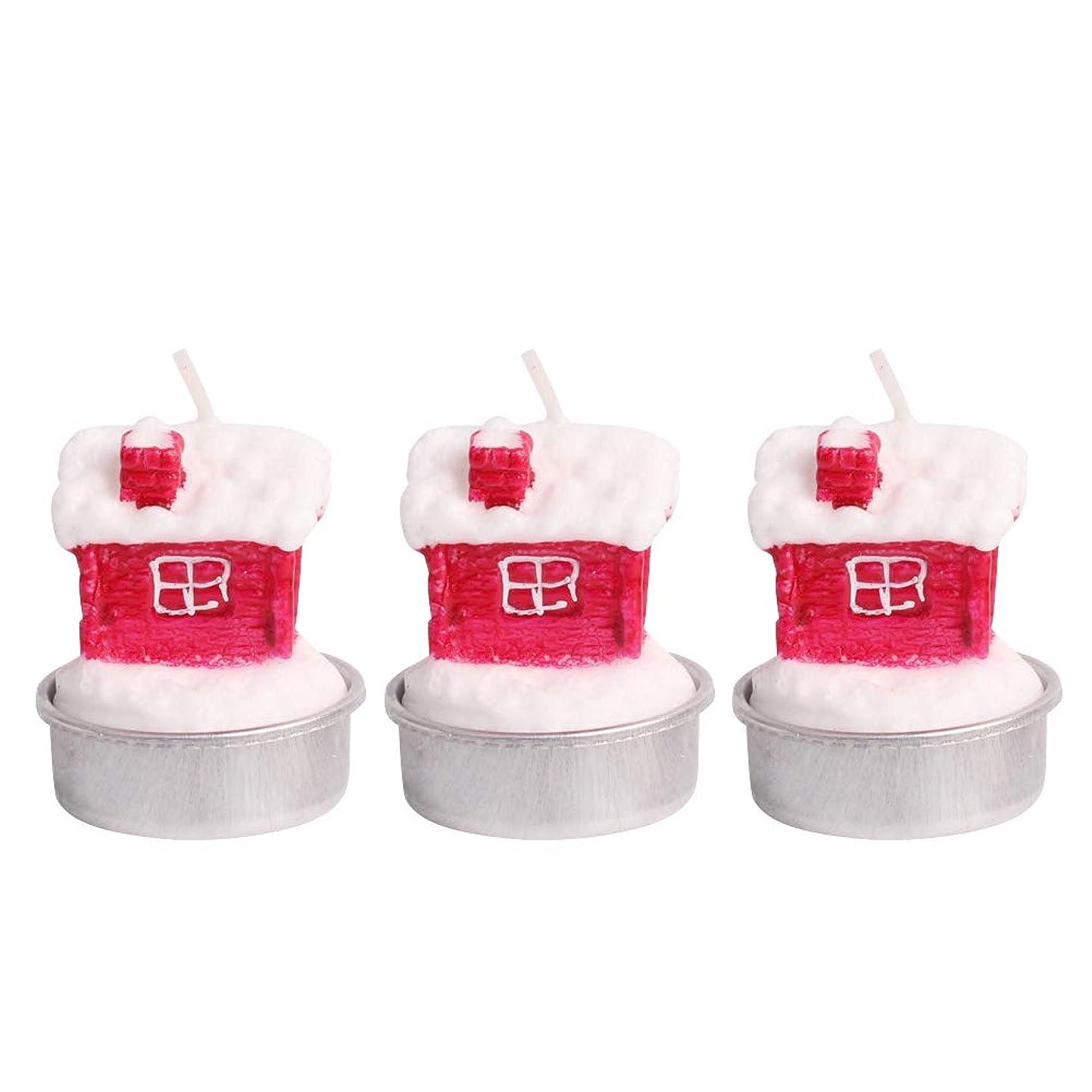 好意家事かみそりBESTOYARD ホルダー付きクリスマスキャンドルクリスマスハウステーブルデコレーション装飾品