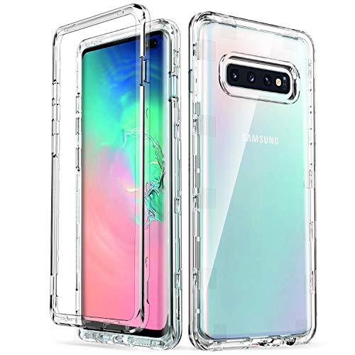 ULAK Galaxy S10 Plus Case, Slim fit Transparent Heavy Duty Shockproof...