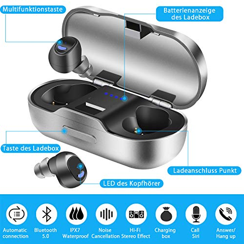 Bluetooth Kopfhörer BEVA Kabelloses Bild 3*