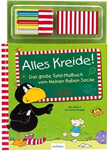 Alles Kreide!: Das große Tafelbuch vom kleinen Raben Socke (Der kleine Rabe Socke)