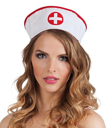 Boland 01380 - Erwachsenenhaube Krankenschwester, Einheitsgröße, weiß