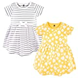 Hudson Baby Girl's Cotton Dresses, Yellow Daisy, 3-6 Months
