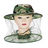 Semoic Apicoltore Anti Mosquito Cimice Insetto Volare Maschera Cappello con Netto Protezione per la faccia a maglia