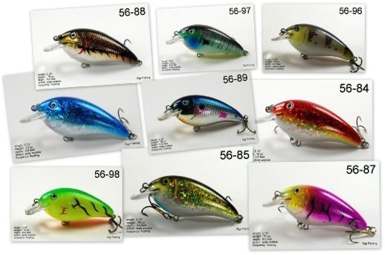 Akuna Pack Of 9Fat Boy Series 3.2Inch Diving Fishing Lure [BP 9FLA 56] by Akuna