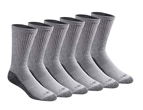 Dickies Men's Dri-tech Moisture Control Crew Socks Multipack, Grey (6 Pairs), Shoe Size: 6-12