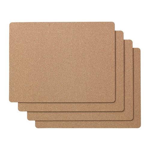 IKEA avskild–Tischset, Kork/4Stück/4Pack–42x 32cm