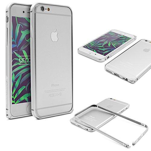 Urcover Bumper iPhone 6   6s, Custodia Bumper Alluminio Premium Qualitá Ultra Legera con Chiusura a Clip con Apple iPhone 6   6s 4,7 Pollici - Argento