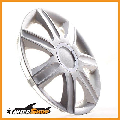 13pulgadas tapacubos TAPACUBOS–Tapacubos Llantas de Acero Hyundai # 2432391Plata con anillo cromado...