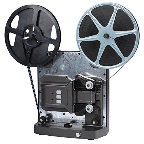 Reflecta Super 8 Scanner - Escáner (5,79 x 4,01 mm, 1920 x 1080 dpi, 24 bit, Film/Slide, Negro, Acero Inoxidable, CMOS)