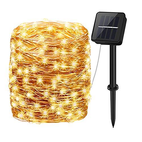 Guirnaldas Luces Exterior Solar,aifulo 20m 200 LED Cadena de Luces,8 Modos Impermeable...