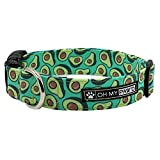 Avocado Collar for Pets Size Medium 3/4 Inch Wide and 13-20 Inches Long - Hand Made Dog Collar by Oh My Paw'd