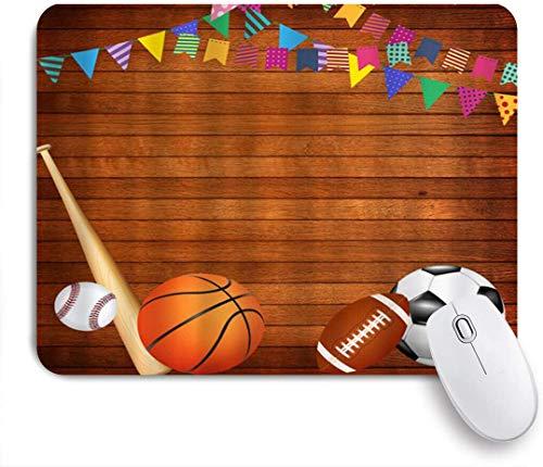 MUYIXUAN Mauspad - Antike hölzerne Brettspiele Basketball - Gaming und Office rutschfeste Gummibasis Mauspads,240×200×3mm