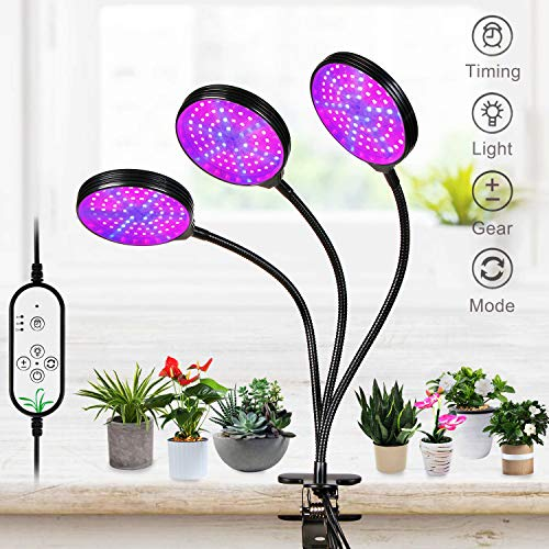 REAWOW LáMpara De Cultivo De Plantas con Espectro Completo De Tipo USB Lamparas para Plantas 360° Giratorio Luz Artificial para Plantas 45W 234 Leds