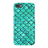 uCOLOR Case Compatible with iPhone 6S 6 iPhone 8/7 Cute Protective Case Glossy Turquoise Mermaid Scales Slim Soft TPU Silicon Shockproof Cover Compatible iPhone 6s/6/7/8(4.7 inch)