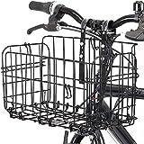 自転車かご 折りたたみ式 脱着式 前かご 後ろかご バスケット ステンレス製 マウンテンバイク クロスバイク 折り畳み自転車 通勤車等用