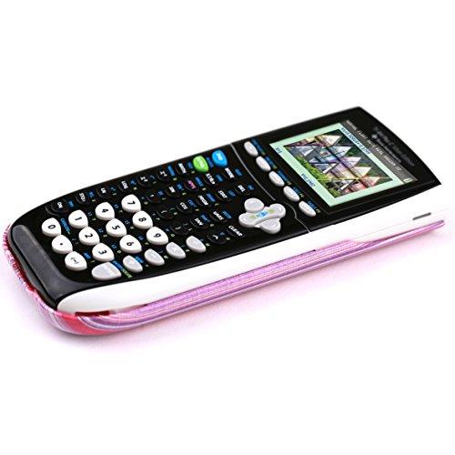 Guerrilla Hard Slide Case-Cover for TI-84 Plus, TI 84-Plus C Silver Edition, TI-89 Titanium Graphing Calculator, Pink Stripe Photo #9