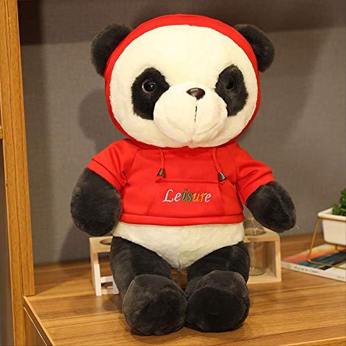 Handgemaakte Zwart-witte Panda Pop Knuffel Schattig Creatief Bed Grote Pop Schattige Knuffel Slapen Kussen Lappenpop 60 cm Rood