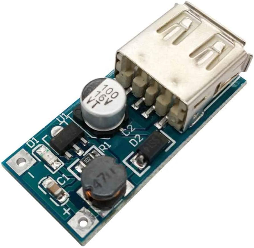 Stayhome 1pcs DC DC 0.9V-5V to 5V 600MA Power Bank Charger Step Up Boost Converter Supply Voltage Module USB Output Charging Circuit Board