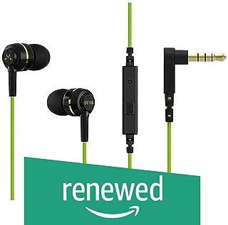 (Renewed) SoundMagic ES18S in-Ear Headphones with Mic (Black/Green)