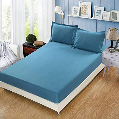 Vommpe - Sábana bajera de 150 x 190 cm, colchón grueso de 30 cm, color azul